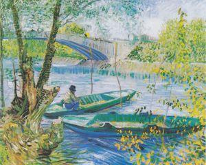 La Pêche au printemps au pont de Clichy, de Vincent van Gogh. Domaine public