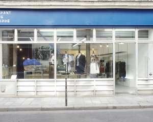Boutique Front de Mode, de Sakina m'Sa, créatrice de mode, accessoires et vêtements, devanture, Paris 2014. Front de Mode
