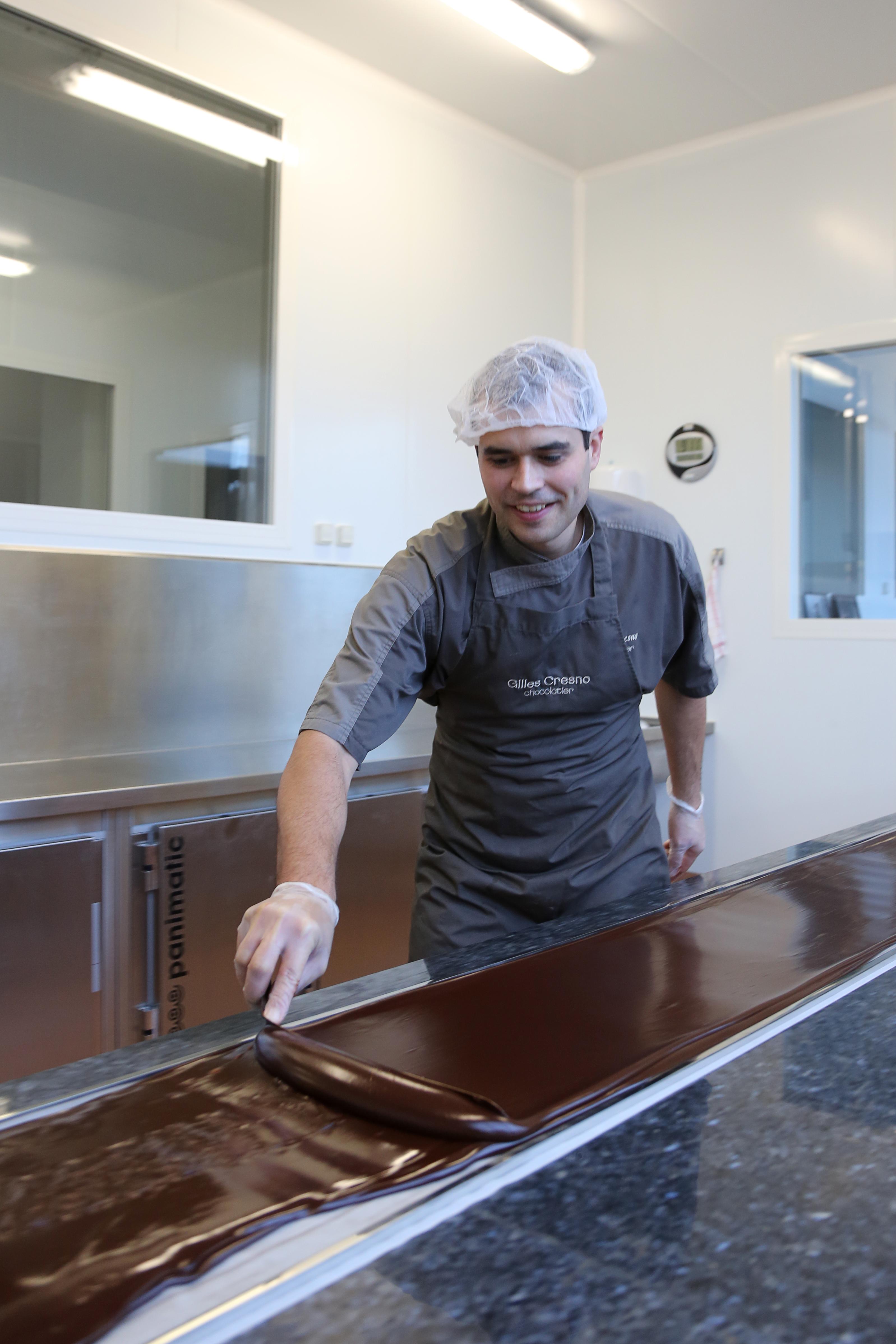 Étalage d'une ganache%252C Gilles Cresno chocolatier%252C Rueil-Malmaison%252C 2012. M-S. Leturcq