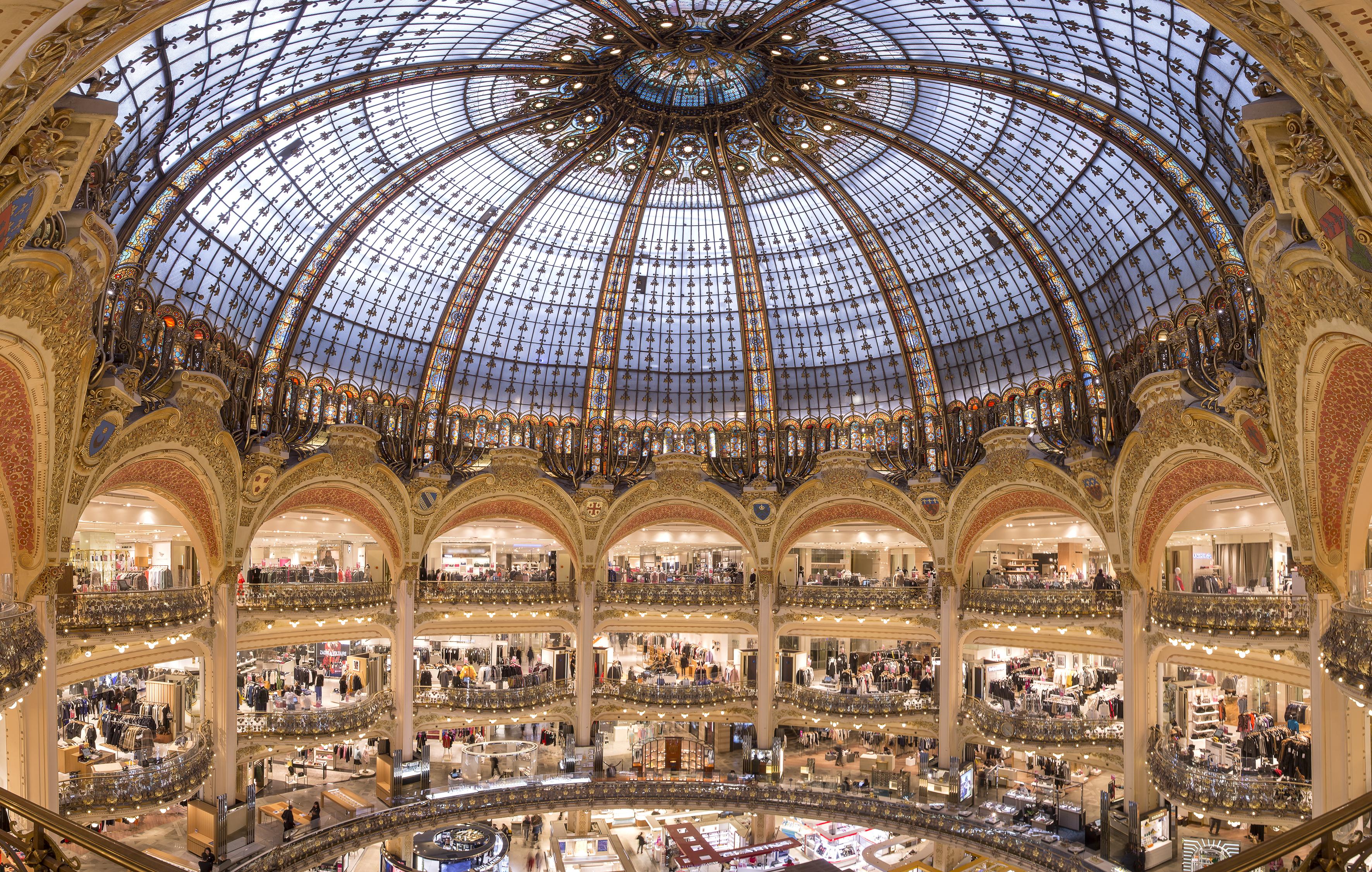 Galeries Lafayette Haussmann%252C la coupole%252C Paris 2016. A. Clemenza%252FGaleries Lafayette