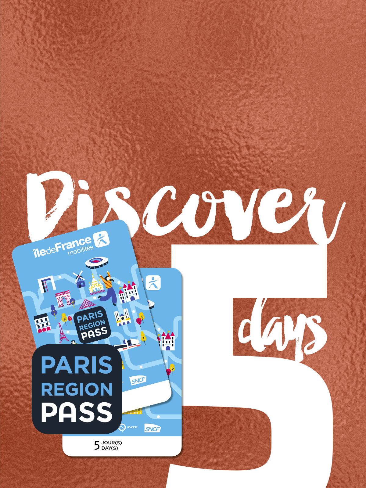 Paris Région Pass - discover - 5 days