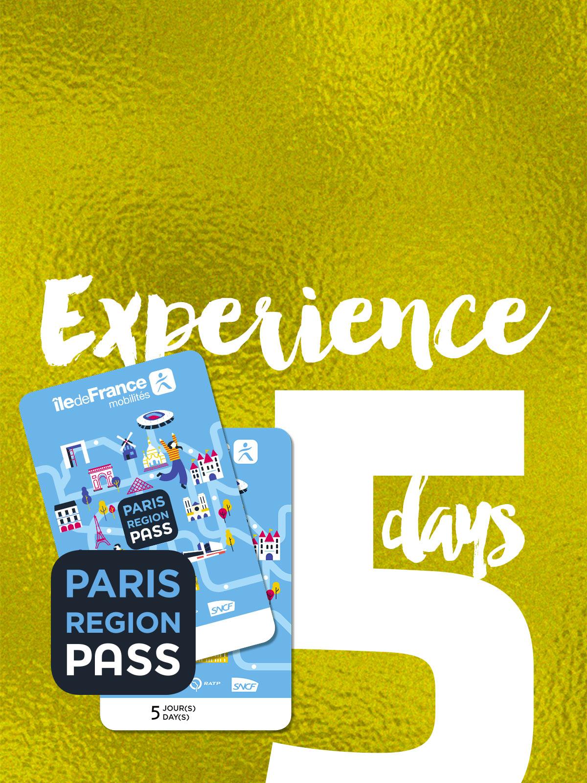 Paris Région Pass - EXPERIENCE - 5 jours