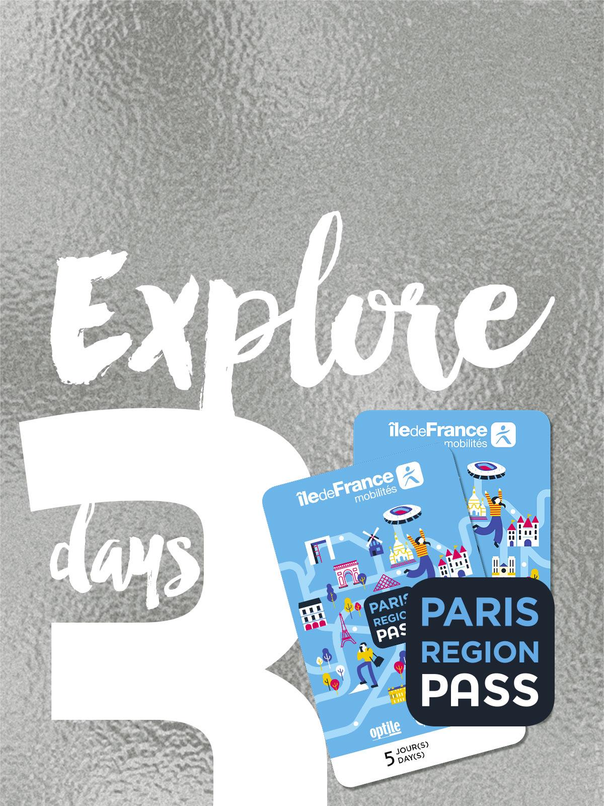 Paris Région Pass - EXPLORE - 3 jours