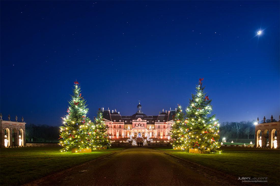 Château de Vaux-le-Vicomte, illuminations de Noël 2016.