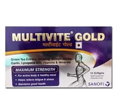 Multivite Gold Soft Gelatin Capsule
