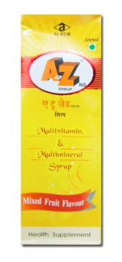 A to Z NS Syrup Mixed fruit flavour