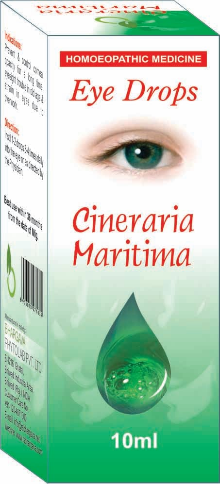 Bhargava Cineraria Maritima Eye Drop