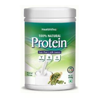 HealthViva 100% Natural All Plant & Milk Protein Powder (Neutral Flavour)