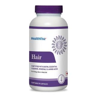 HealthViva Hair (Biotin, Essential Vitamin Minerals & Amino Acid) Capsule