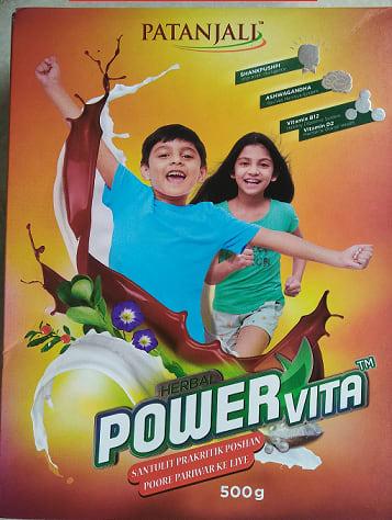 Patanjali Ayurveda Herbal Powervita Powder Refill pack