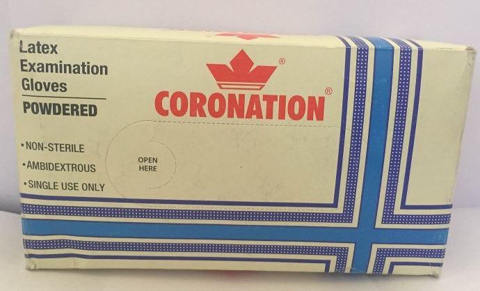 Coronation Latex Examination Glove S