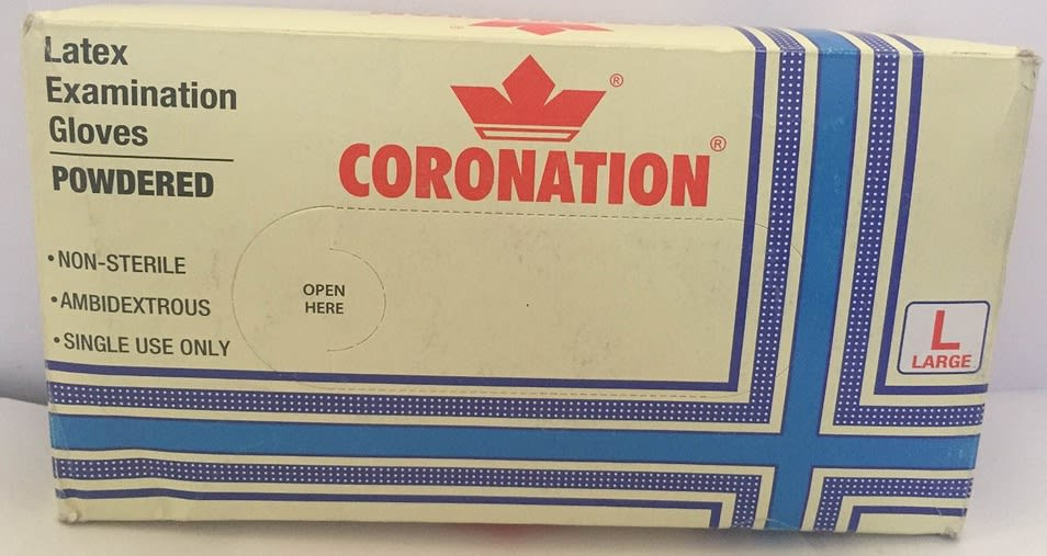 Coronation Latex Examination Glove L
