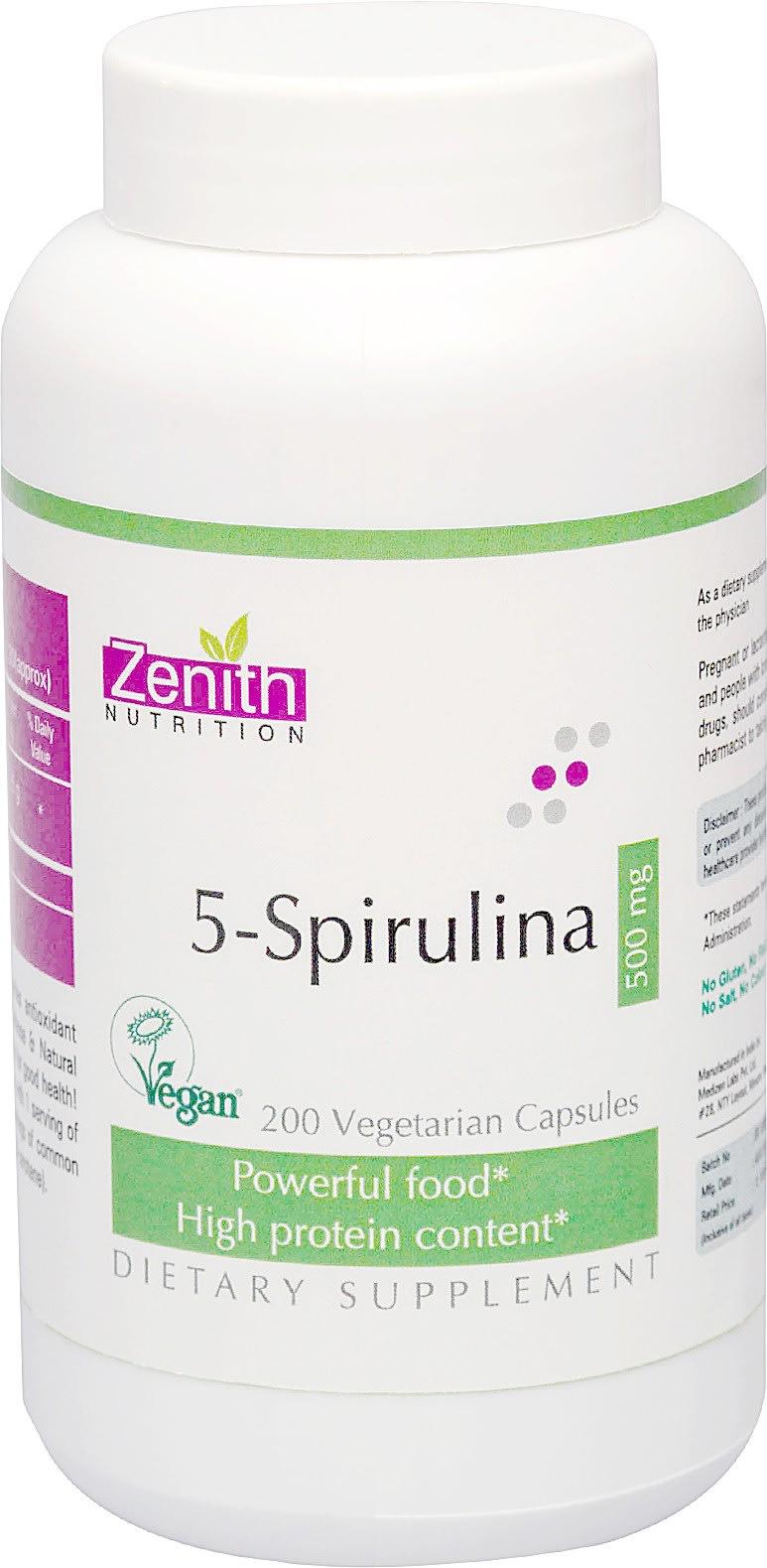 Zenith Nutrition  5-Spirulina 500mg Capsule
