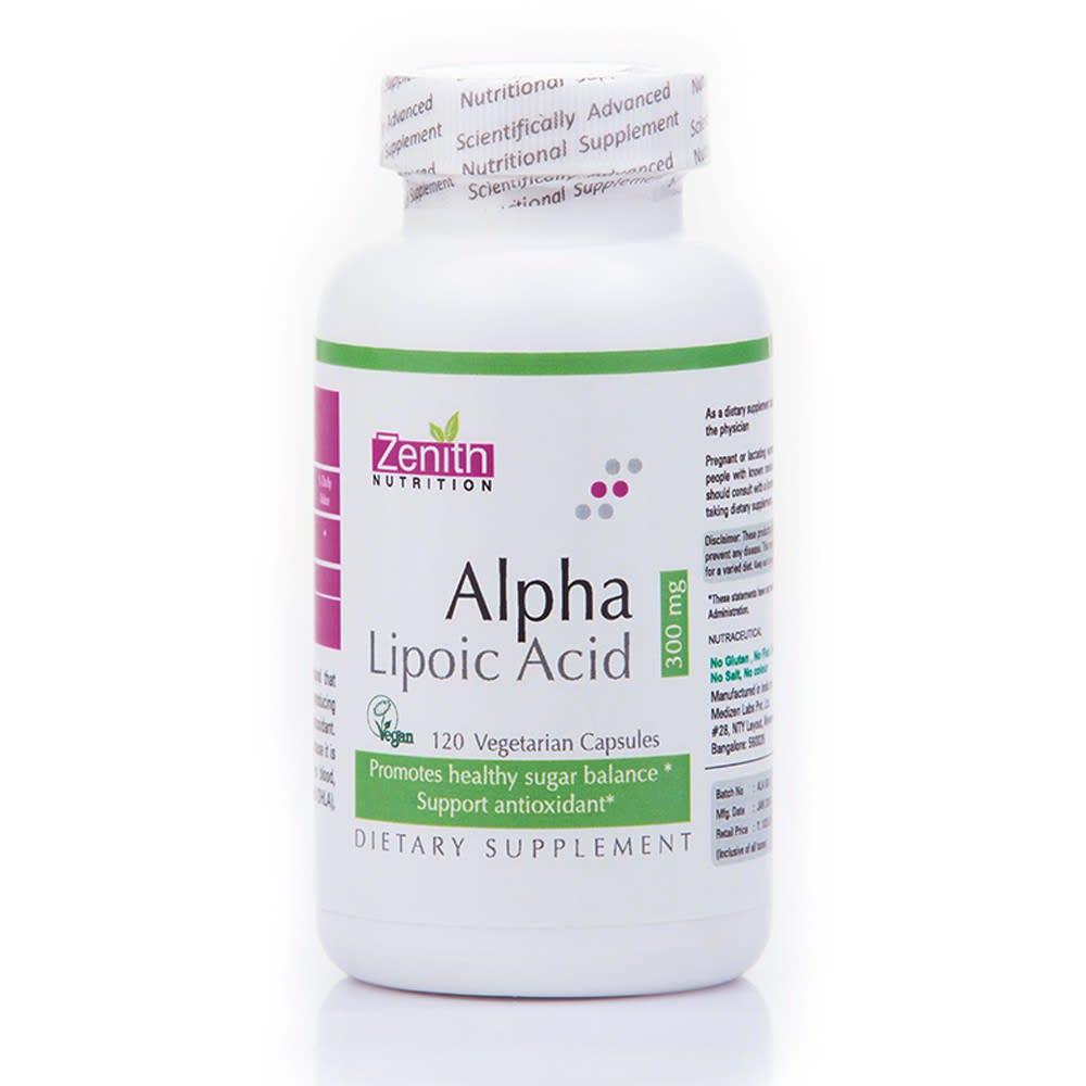 Zenith Nutrition Alpha Lipoic Acid  300mg Capsule