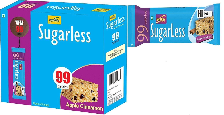 RiteBite Sugarless Bar Apple Cinnamon