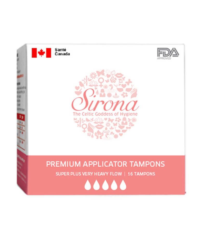 Sirona Premium Applicator Super Plus Heavy Flow Tampons