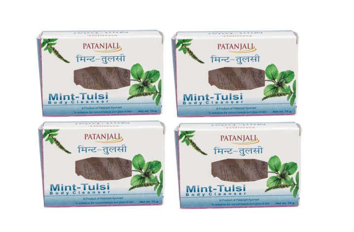 Patanjali Ayurveda Mint Tulsi  Body Cleanser Pack of 4