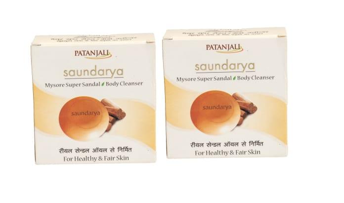 Patanjali Ayurveda Saundarya Mysore Super Sandal Body Cleanser Pack of 2