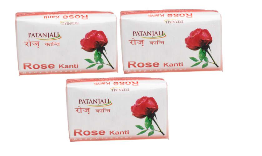 Patanjali Ayurveda Rose Kanti Body Cleanser Pack of 3