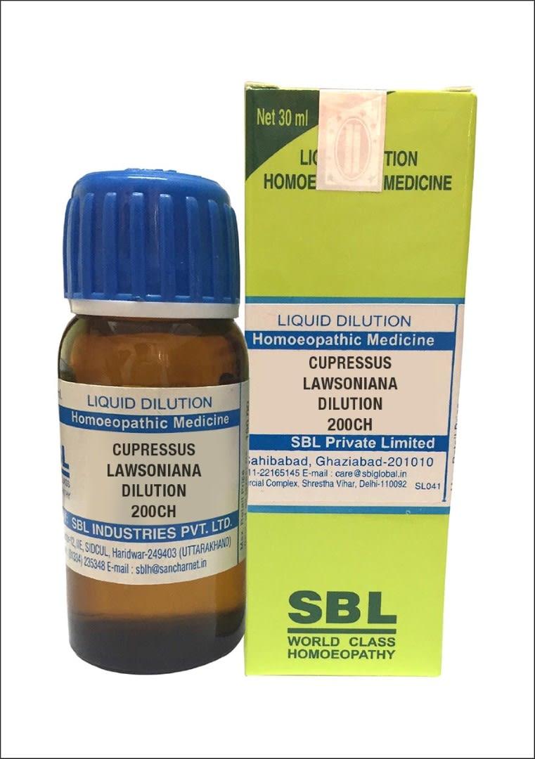 SBL Cupressus Lawsoniana Dilution 200 CH