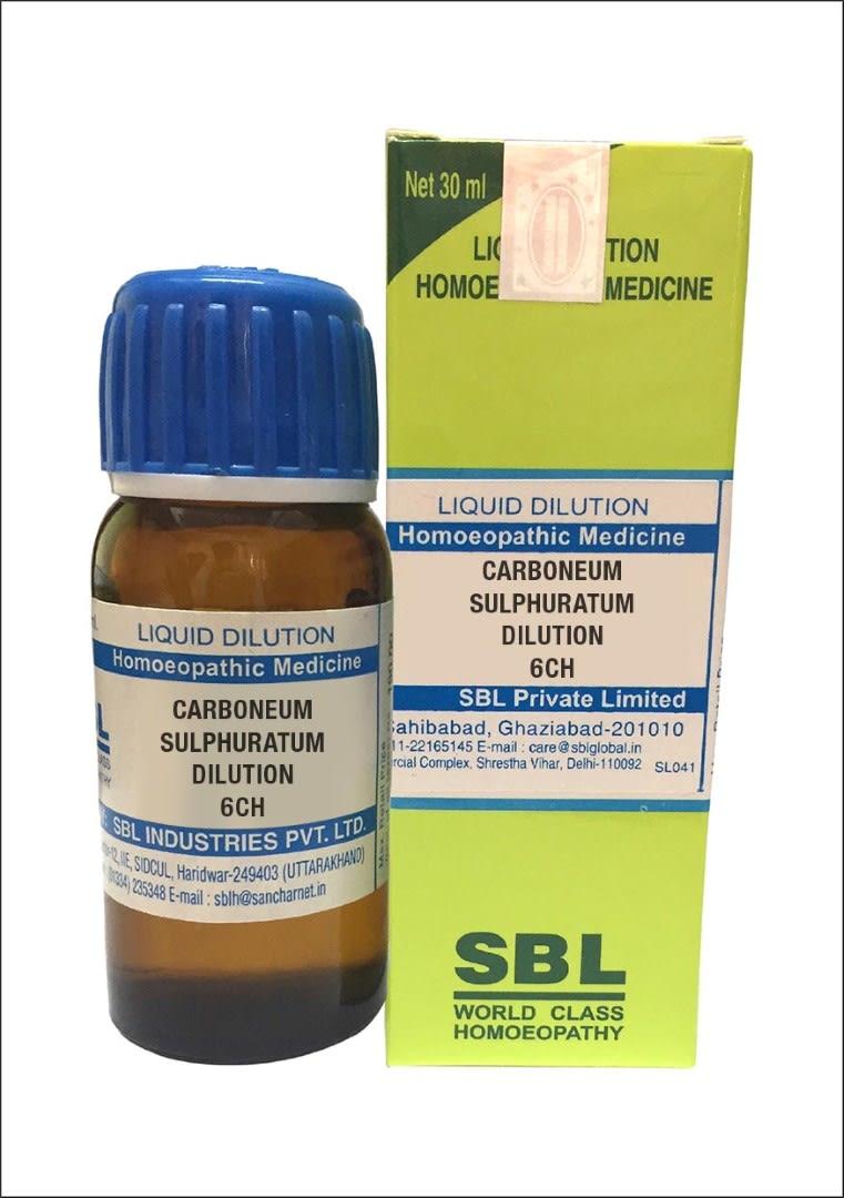 SBL Carboneum Sulphuratum Dilution 6 CH