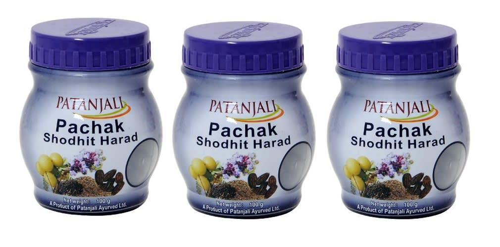 Patanjali Ayurveda Pachak Shodhit Harad Pack of 3