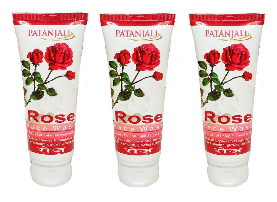 Patanjali Ayurveda Rose Face Wash Pack of 3