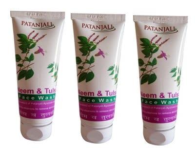 Patanjali Ayurveda Neem Tulsi Face Wash Pack of 3