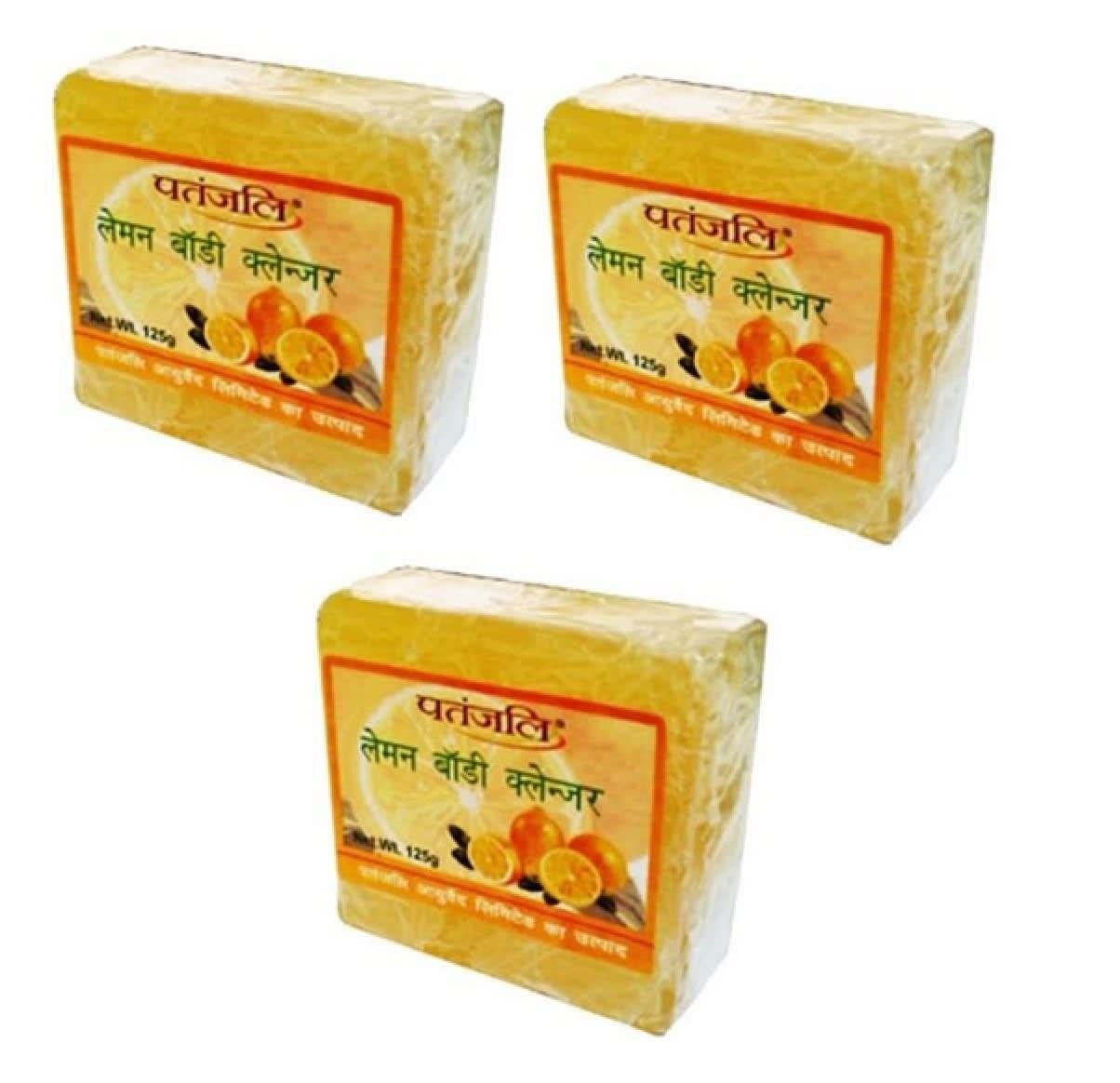 Patanjali Ayurveda Lemon Body Cleanser Pack of 3