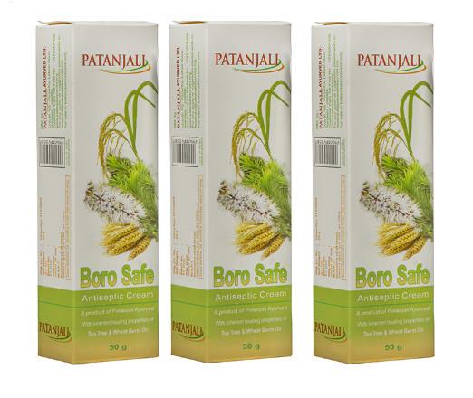 Patanjali Ayurveda Boro Safe Antiseptic Cream Pack of 3