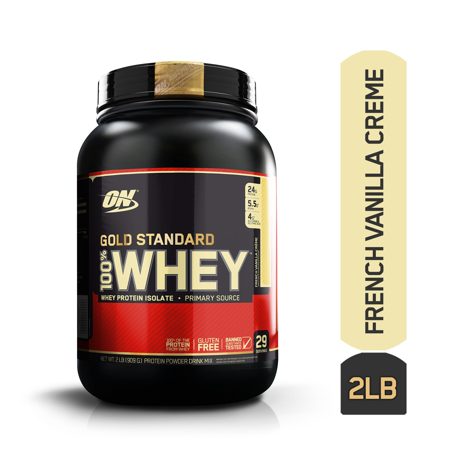 Optimum Nutrition (ON) Gold Standard 100% Whey French Vanilla Creme