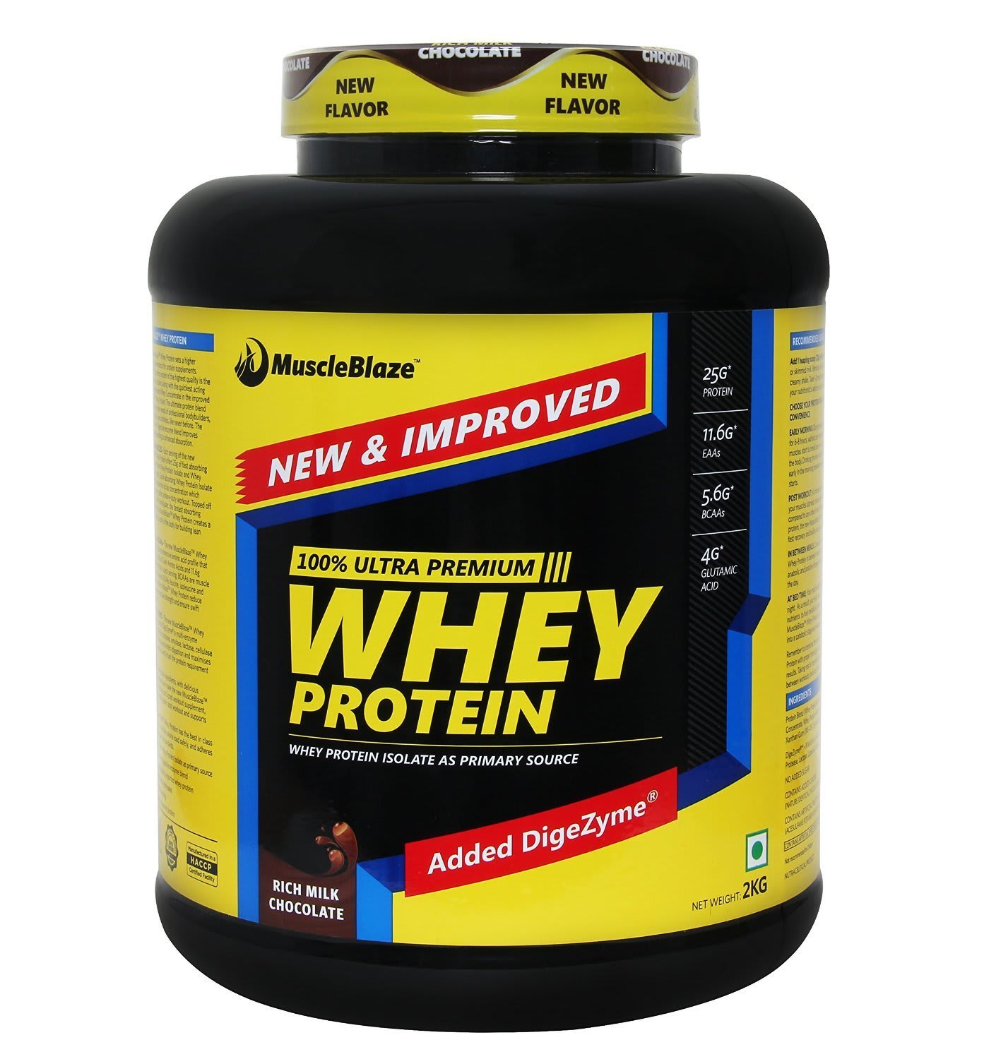 MuscleBlaze Whey Protein with Digestive Enzyme Rich Milk Chocolate