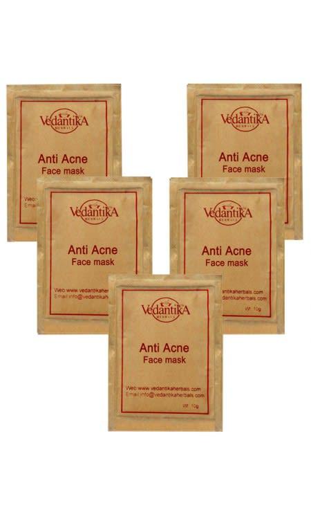 Vedantika Herbals Anti Acne Face Mask Pack of 5