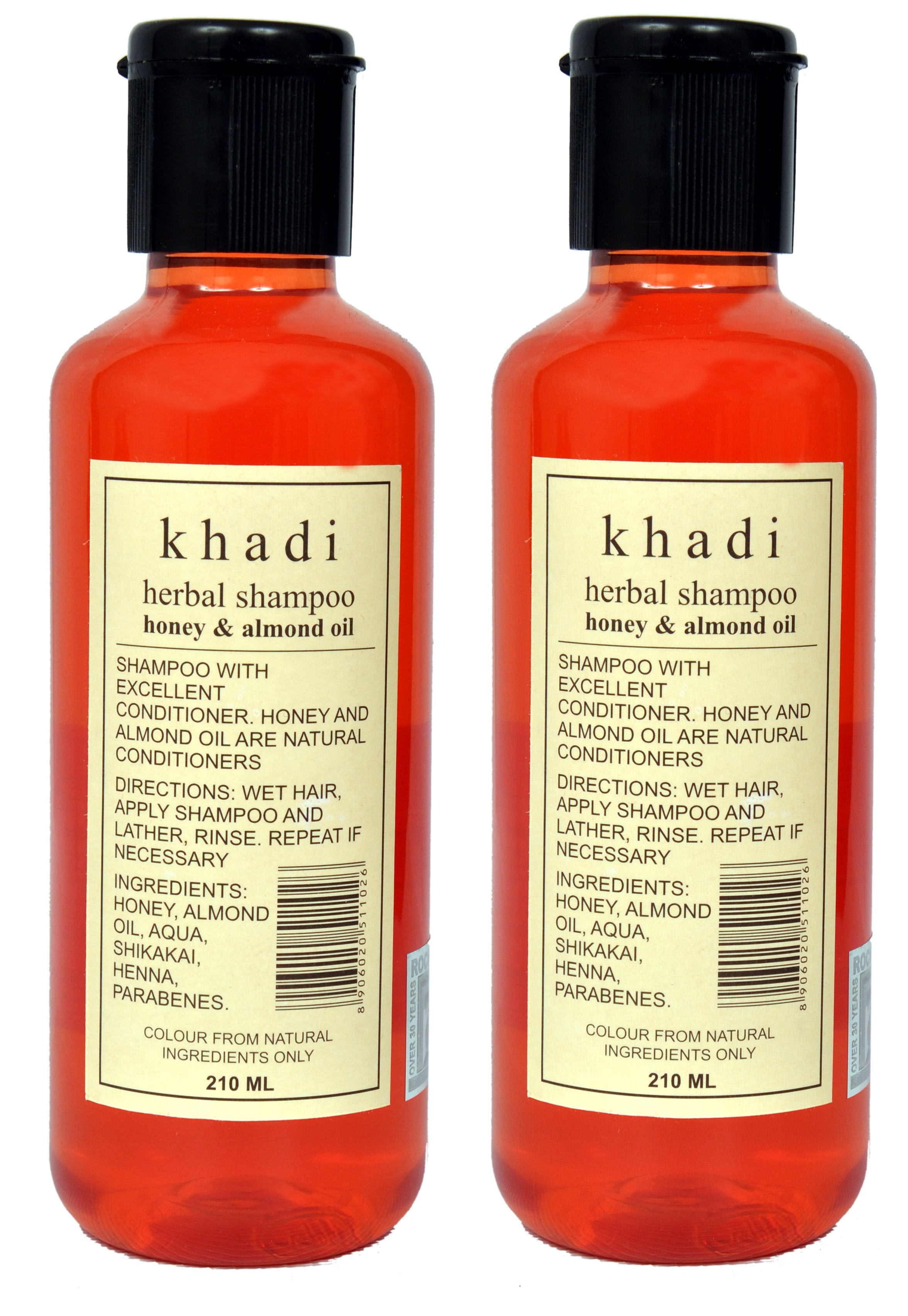 Khadi Herbal Shampoo with Honey & Almond Oil Pack of 2