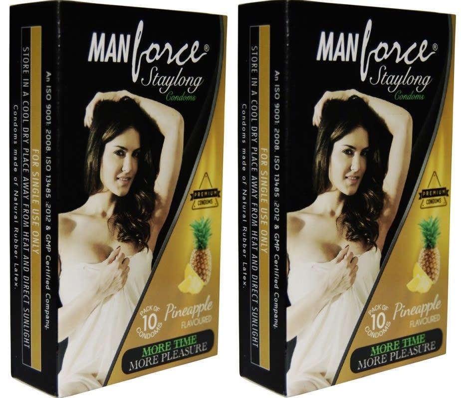 Manforce Staylong Condom Pineapple Pack of 2