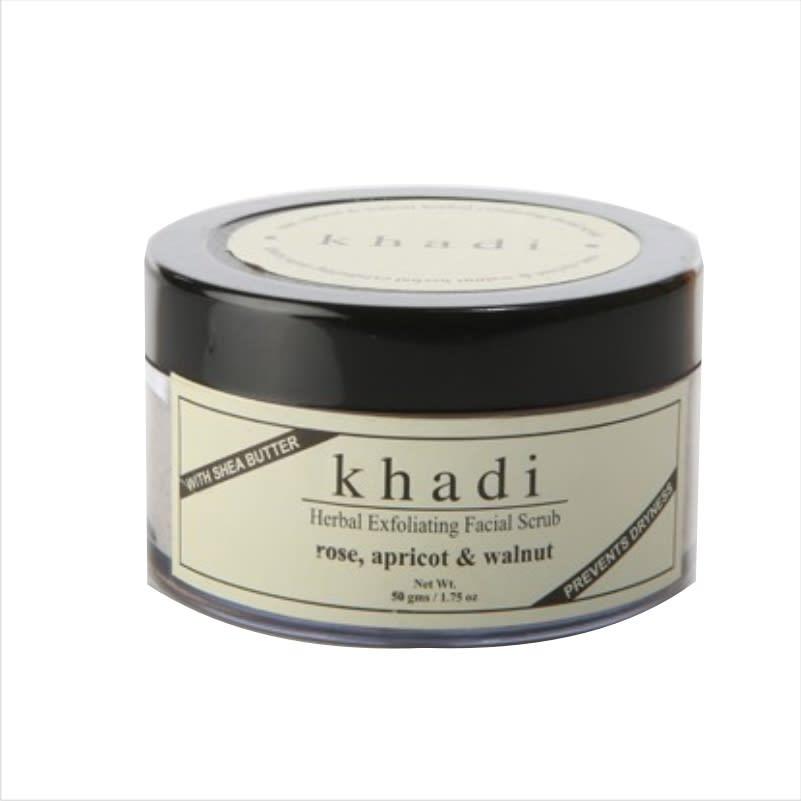 Khadi Naturals Rose, Apricot & Walnut Facial Scrub