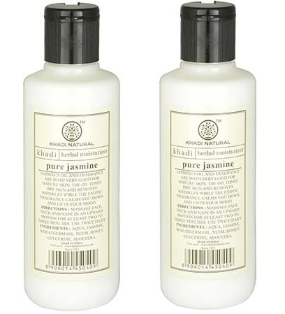 Khadi Naturals Moisturiser Lotion with Pure Jasmine Pack of 2