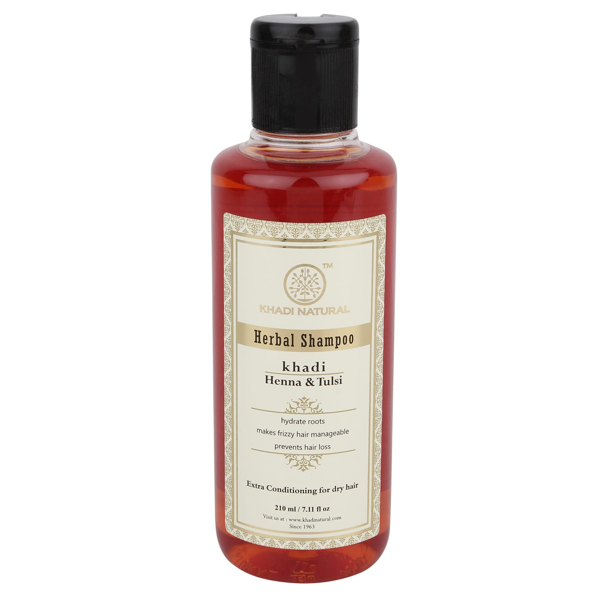 Khadi Naturals Herbal Heena Tulsi Shampoo