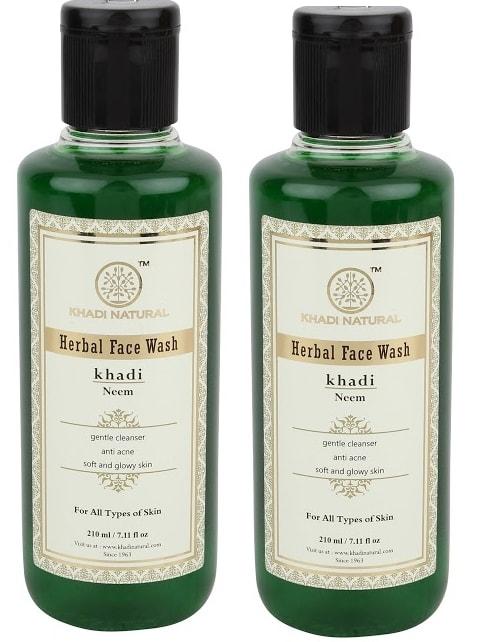 Khadi Naturals Herbal Neem  Face Wash Pack of 2
