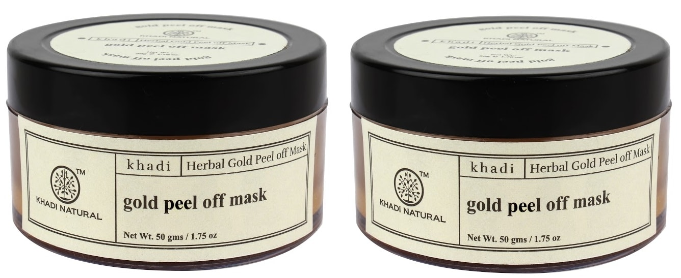 Khadi Naturals Gold Peel Off Mask Pack of 2