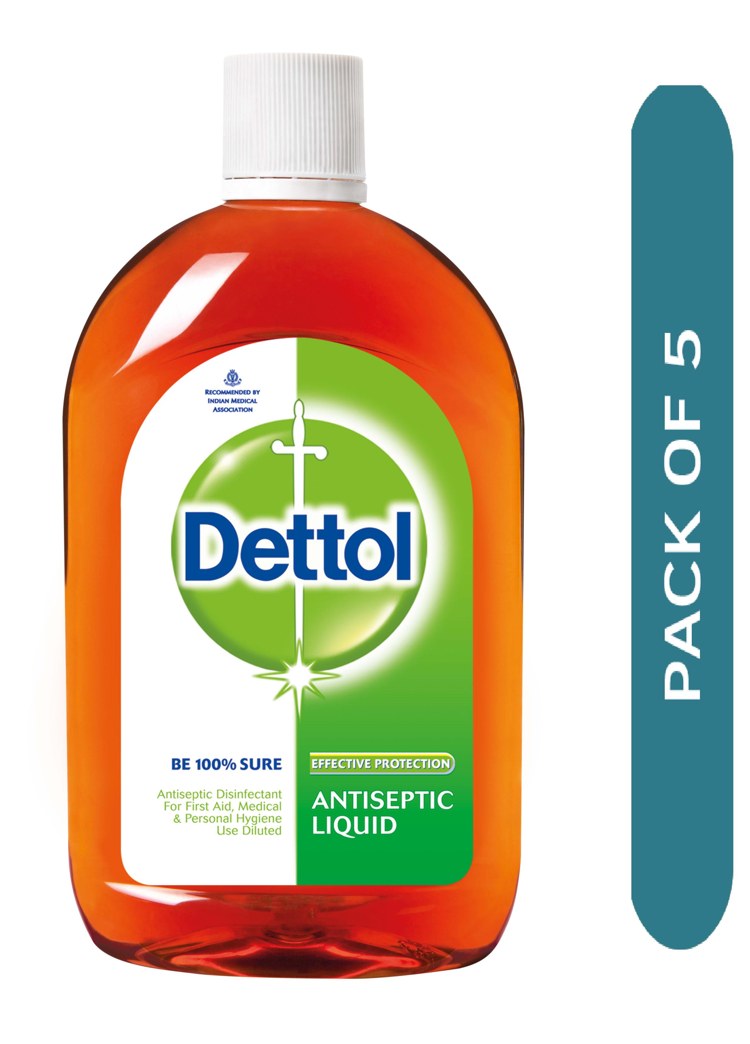 Dettol Antiseptic Liquid Pack of 5