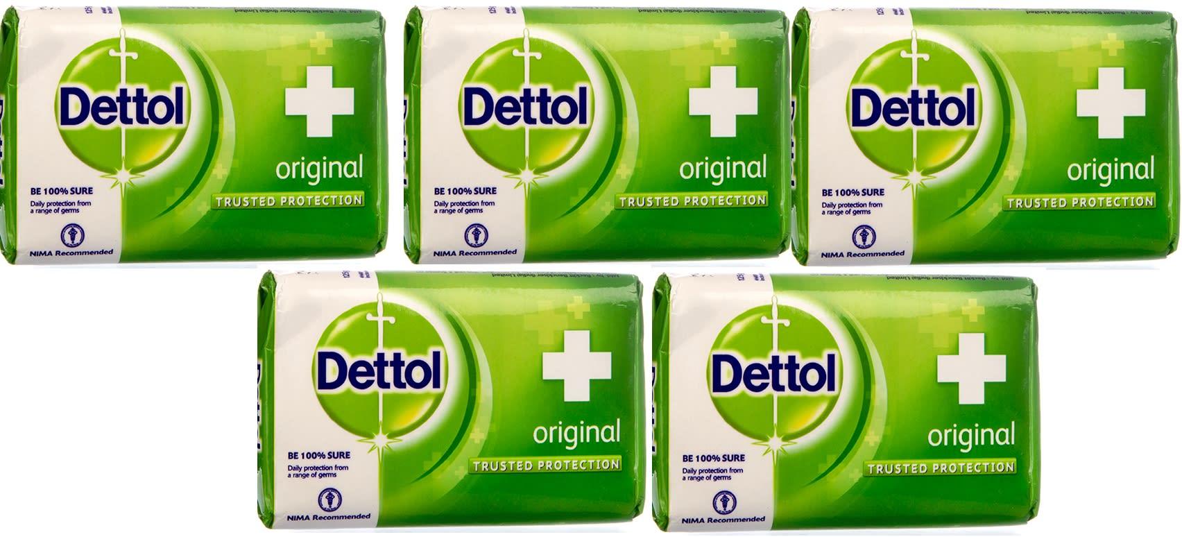 Dettol Original 75gm Soap Pack of 5