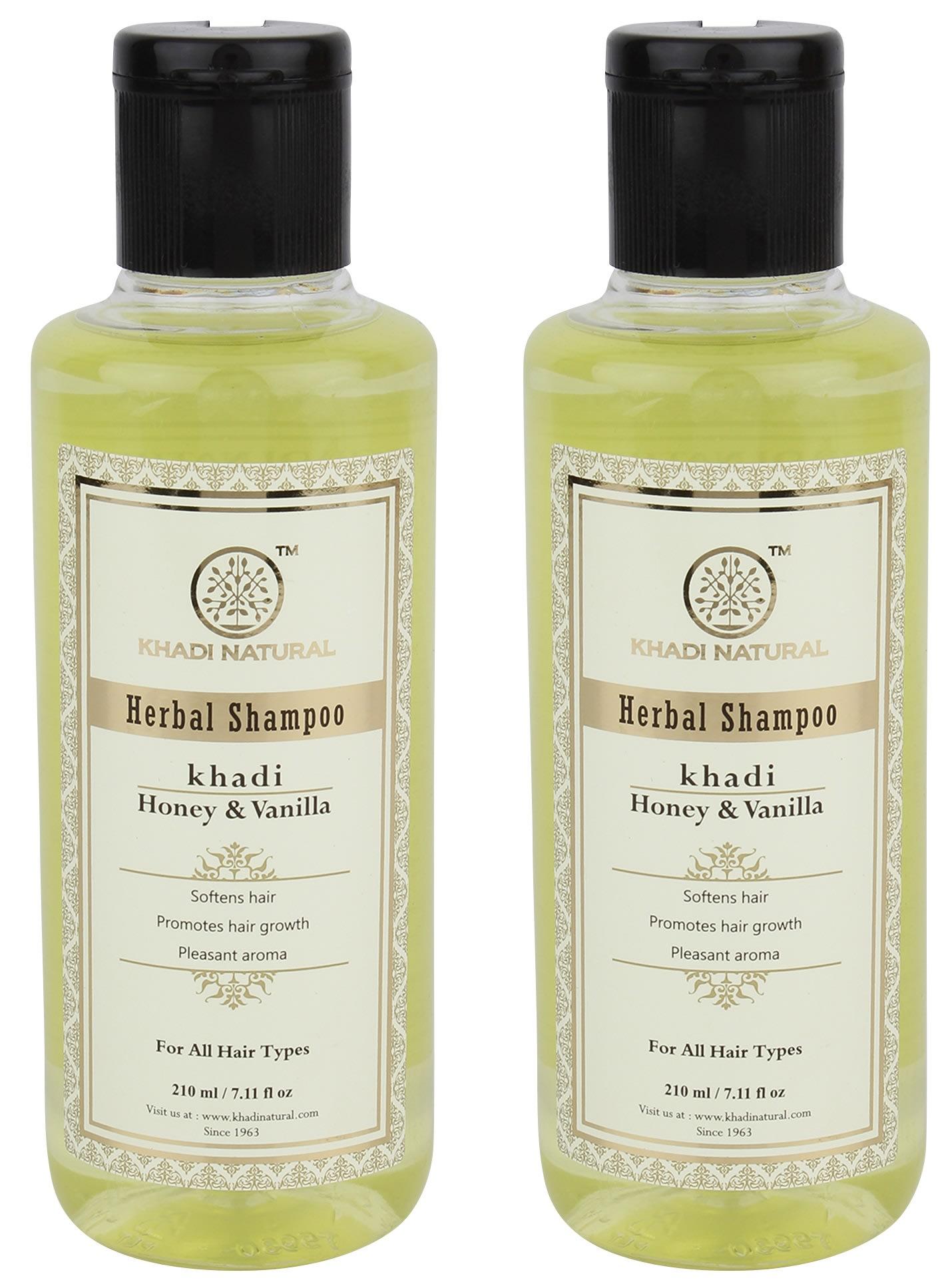 Khadi Naturals Honey & Vanilla Hair  Cleanser Pack of 2