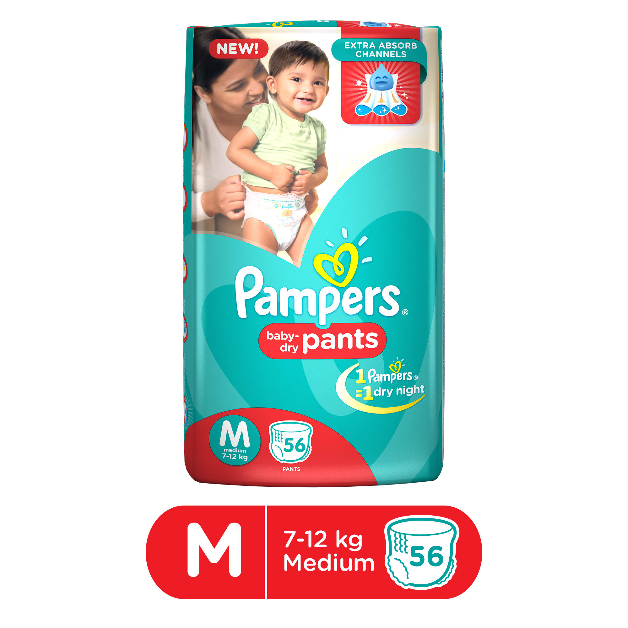 Pampers Baby Dry Pants Diaper M