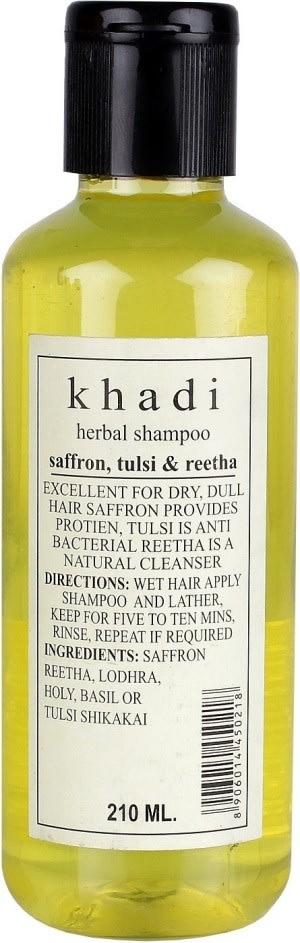 Khadi  Herbal Saffron Tulsi Reetha Shampoo