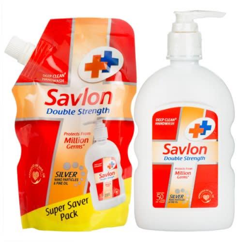 Savlon Double Strength Handwash 220ml(185Mlpouch Free)