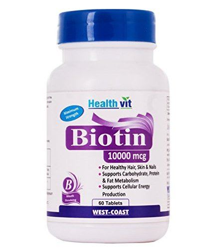 HealthVit Biotin 10000mcg Tablet