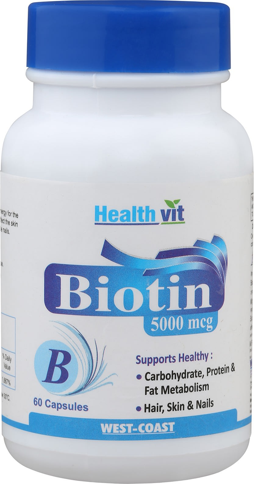 HealthVit Biotin 5000mcg Capsule