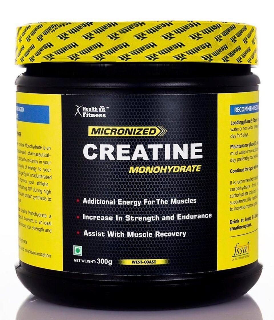 HealthVit Micronized Creatine Monohydrate Powder