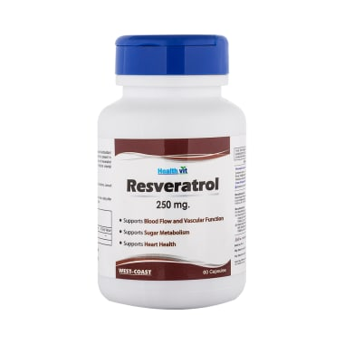 Healthvit Resveratrol 250mg Capsule Buy Bottle Of 60 Capsules At Best Price In India 1mg